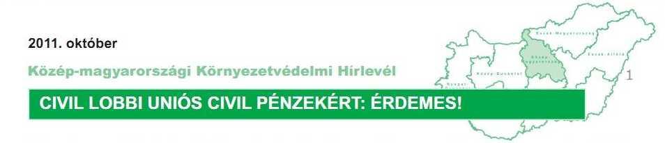 Közép-magyarországi Környezetvédelmi Hírlevél